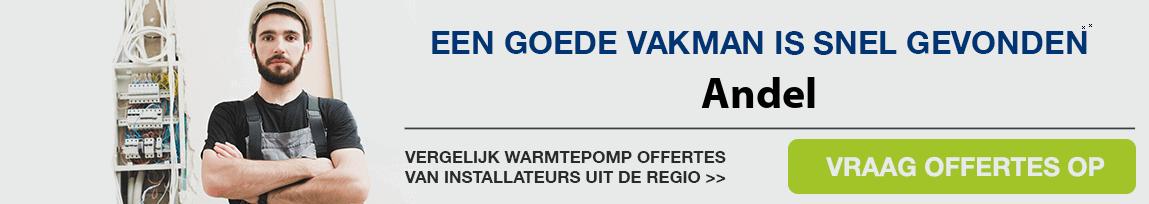 cv ketel vervangen door warmtepomp in Andel