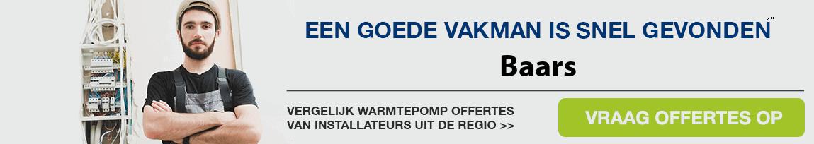 cv ketel vervangen door warmtepomp in Baars