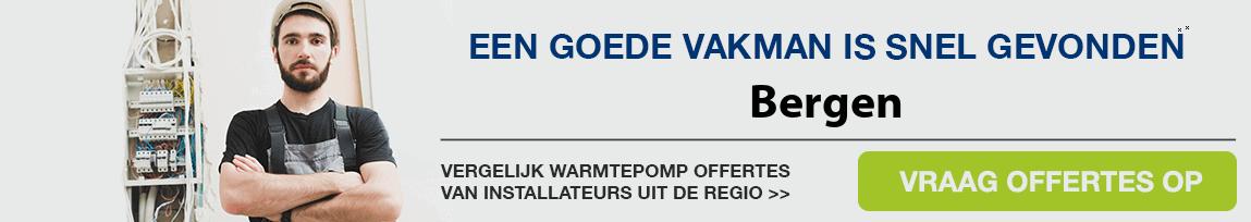 cv ketel vervangen door warmtepomp in Bergen