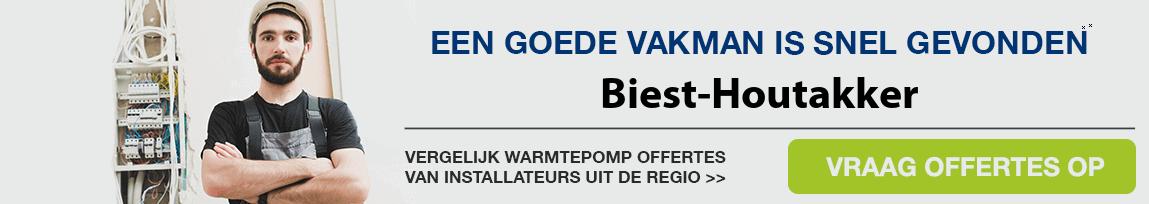 cv ketel vervangen door warmtepomp in Biest-Houtakker