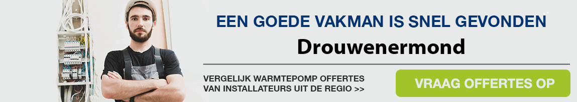 cv ketel vervangen door warmtepomp in Drouwenermond
