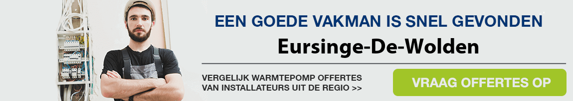 cv ketel vervangen door warmtepomp in Eursinge-De-Wolden