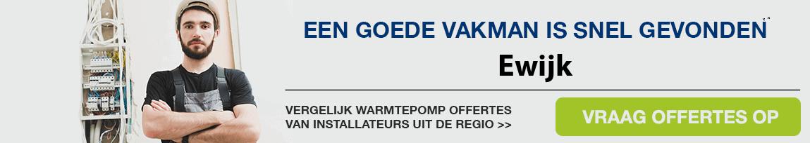 cv ketel vervangen door warmtepomp in Ewijk
