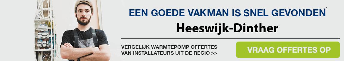 cv ketel vervangen door warmtepomp in Heeswijk-Dinther
