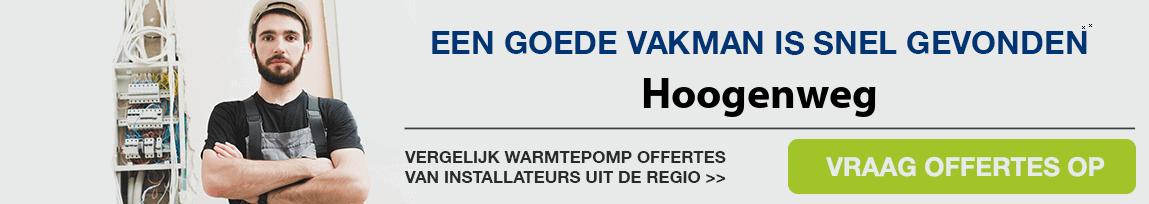 cv ketel vervangen door warmtepomp in Hoogenweg