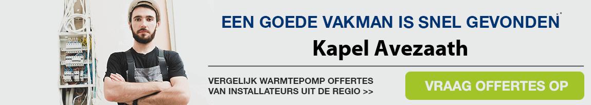 cv ketel vervangen door warmtepomp in Kapel Avezaath