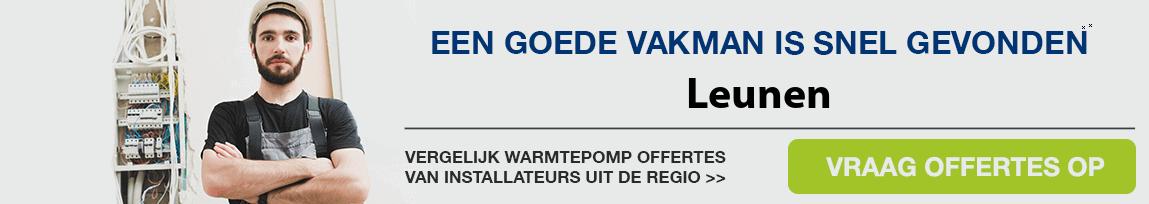 cv ketel vervangen door warmtepomp in Leunen