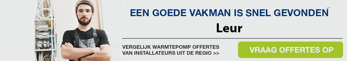 cv ketel vervangen door warmtepomp in Leur