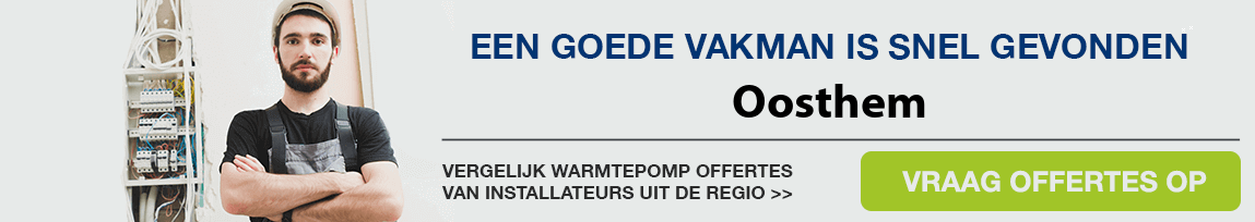 cv ketel vervangen door warmtepomp in Oosthem