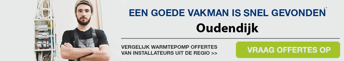 cv ketel vervangen door warmtepomp in Oudendijk
