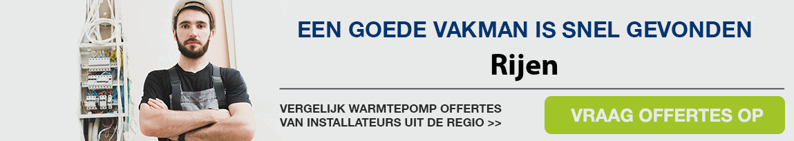 cv ketel vervangen door warmtepomp in Rijen