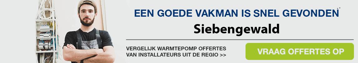 cv ketel vervangen door warmtepomp in Siebengewald