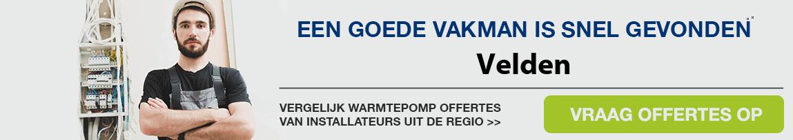 cv ketel vervangen door warmtepomp in Velden
