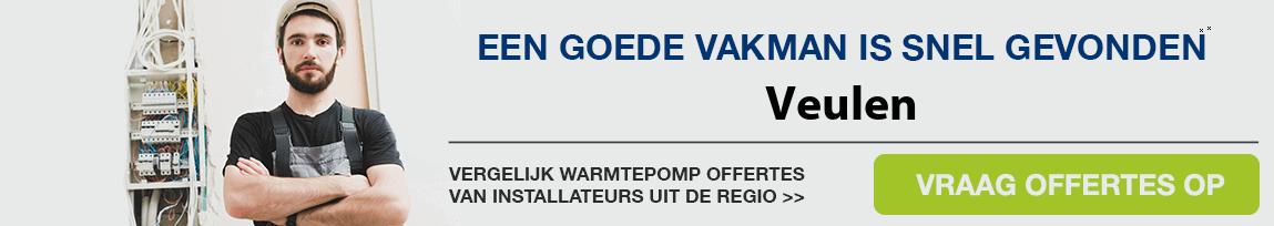 cv ketel vervangen door warmtepomp in Veulen
