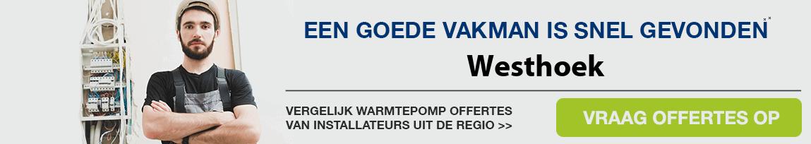cv ketel vervangen door warmtepomp in Westhoek