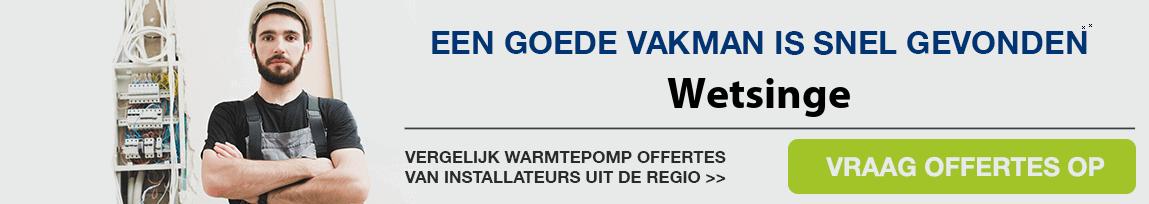 cv ketel vervangen door warmtepomp in Wetsinge
